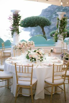 Nothing says destination wedding in Positano like pebble beach portraits, a live Italian band and a vintage fiat getaway car! This travel influencer said I Do in the prettiest of cliffside settings, and we are one hundred percent captivated by everything from the peony-filled ceremony backdrop to the travel inspired table names, complete with hand-drawn illustrations. If an Italian wedding is on the brain, you will not be disappointed by this fairytale gallery on Ruffled Blog now. #amalficoast #