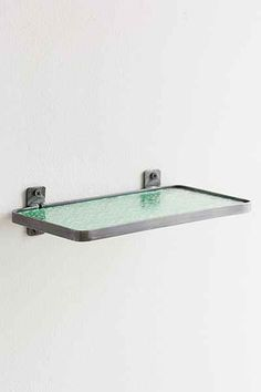 Pressed Glass Shelf - Urban Outfitters Turn vertical for a little backsplash wall!!!