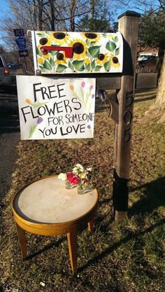 On Valentine's day, a stranger gave others the chance to give the ones they love a flower.