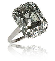 "A rare French art deco fancy ""steel"" grey 10-carat diamond ring,"