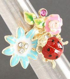Pretty garden ring. I love ladybugs!