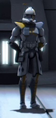 Blitz is an Advanced Recon Commando commander who was part of Rancor Battalion and oversaw clone trooper training during the Clone Wars. He wore experimental Phase II clone trooper armor.