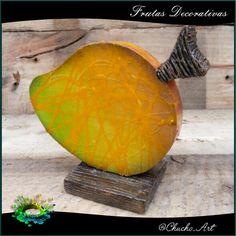 Fruta decorativa Mango de 15 cm de ancho, acabado texturizado brillante.  1/5. Otra creación @chucho-art recuerda darle like, comentar y compartir todo lo que te guste!!