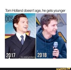 His ugly Tony Stark mustache is G O N E <<< I probably laughed way to much at this Funny Marvel Memes, Dc Memes, Marvel Jokes, Avengers Memes, Tony Stark, Fangirl, Tom Holland Imagines, Tom Holand, Tom Holland Peter Parker