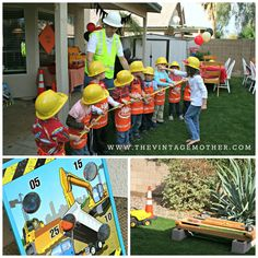 Construction Party ideas... Tug of War is a great activity that a lot of younger kids have never done.   www.thevintagemother.com