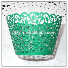 Event & Party Supplies lace paper vine design baking cakes cups mold wraps Cupcake Wrapper for new year party