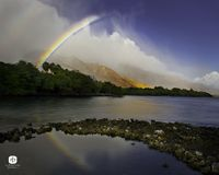 Olowalu Rainbow - Hawaii Landscape and Scenic Photos - Randy Jay Braun Photography