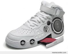 Sports Shoes with CD Player - I think these are cool