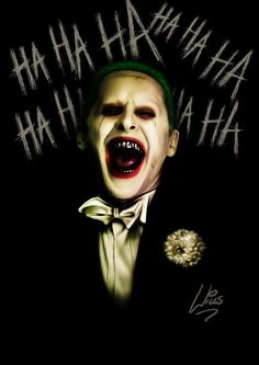Jared Leto Joker by Richard Williams Der Joker, Joker Und Harley Quinn, Joker Art, Joker Batman, Gotham Batman, Batman Art, Batman Robin, Jared Leto Joker, Gotham City