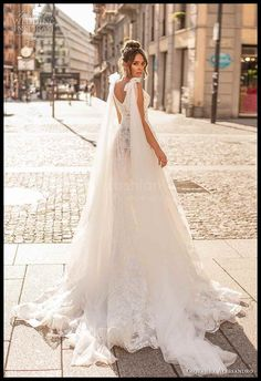 """The 2019 """"Magica Milano"""" bridal collection by Giovanna Alessandro features some of our favorite trends, including fairytale gowns with exquisitely beaded illusion bodices Amazing Wedding Dress, Dream Wedding Dresses, Bridal Dresses, Wedding Gowns, Corsage, Fairytale Gown, Style Minimaliste, Engagement Dresses, Luxe Wedding"""