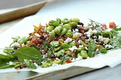 Quinoa, fava bean and Feta salad by California Bakery