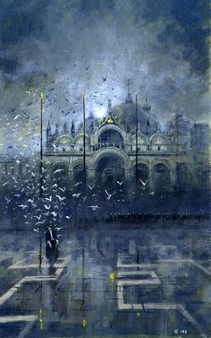 Phantom of the Opera inspired artwork by Edward Miller, pseudonym of British fantasy artist Les Edwards.