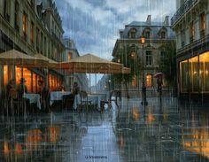Yağmurda ellerim, Üşüyor yüreğim. Bu kara bulutlar Kan kardeşi gözlerimin. Yıldızsız, ıssız gece; Yalnızız caddelerde Bir yağmur bir de ben.. . ✿Historia De UN AMOR✿