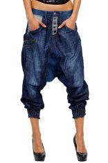 337eb3b62474fe Denim Desigual Turco Mix Baggy Trousers, Cropped Pants, Harem Pants, Melody  Fashion,