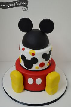 Mickey Mouse Birthday Cake - Specialty Cakes — Sweet Cakes by Rebecca