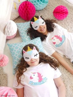 DIY: unicorn sleeping masks