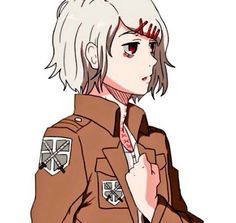 Attack on Titan x Tokyo Ghoul crossover. Suzuya Juuzou in a survey corps uniform so cute!