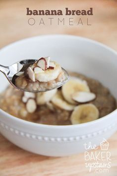 Banana Bread Oatmeal by thebakerupstairs.com - this tastes SO good, definitely the best #oatmeal you'll ever eat, and it's healthy too!