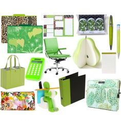 green office supplies