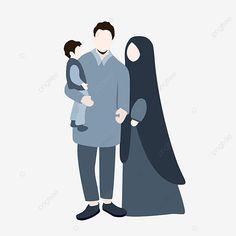 Muslim Family, Muslim Couples, Family Illustration, Cute Illustration, Silhouette Family, Love Cartoon Couple, Family Vector, Minimalist Photos, Islamic Cartoon