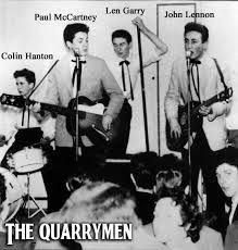 Before the Beatles there were the Quarrymen. Yes, this was pre- Pete Best, Ringo Star and Stuart Sutcliff . Foto Beatles, Les Beatles, Beatles Photos, Beatles Art, Lps, Harry Nilsson, The Quarrymen, Rockabilly Music, John Lennon Paul Mccartney