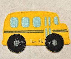 School Bus for Non Paper Dolls