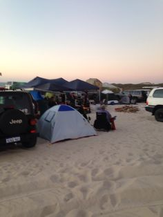 The jeep at Lancelin for New Years Eve...total blast