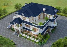 House Gate Design, Bungalow House Design, House Front Design, Classic House Design, Unique House Design, House Plans Mansion, Dream House Plans, Model House Plan, Home Building Design