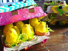 egg cartons as gift boxes...very cute!