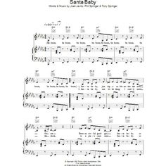 Santa Baby Sheet Music Direct (140 THB) ❤ liked on Polyvore featuring music