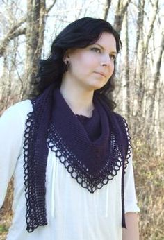 For Megan: Raven's Song- Tunisian Crochet Shawl Pattern by Julia Wardell