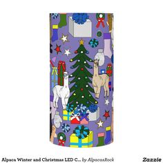 Alpaca Winter and Christmas LED Candle