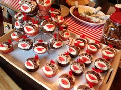 Sock Monkey Birthday Party - Sock monkey cupcakes