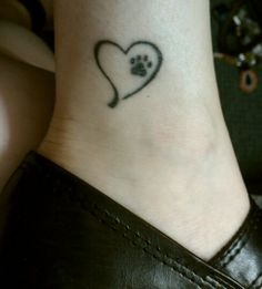 pet memorial tattoo ~ might have to brave one of these when the day comes that I lose my baby girl...