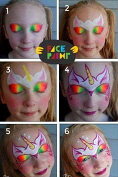 Face Painting Unicorn, Girl Face Painting, Belly Painting, Painting For Kids, Tole Painting, Gold Face Paint, Diy Face Paint, Face Paint Makeup, Body Paint