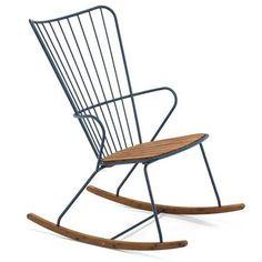 Casa. Pro fer fauteuil à bascule Chaise de jardin chaise métal Schwingsessel antique chaise