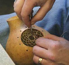 american indian art (gourd)