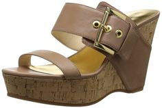 Nine West Women's Berko Leather Wedge Sandal -- Don't get left behind, see this great product : Women's Shoes