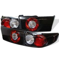 low priced 97a00 26c30 2003-2005 Honda Accord 4Dr Euro Style Tail Lights - Black Car Parts, Led
