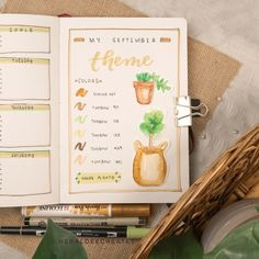 Create this simple fall bullet journal theme with an easy step-by-step video guide. Plus get my handmade printable mood tracker for FREE!