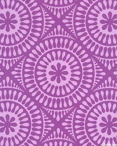 FABRIC Jane Sassaman Garden Tiles Purple fabric 1 yard. $8.00, via Etsy.