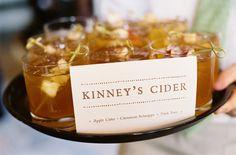Signature Drink ~ Apple Cider + Cinnamon Schnapps + Dark Rum = YUM! Photography by jenfariello.com
