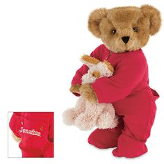 "15"" Christmas Bedtime Bear with Puppy 