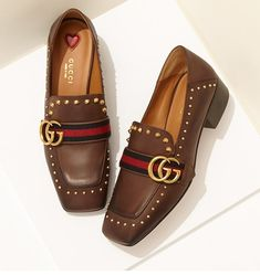 Gucci Peyton Leather Loafers