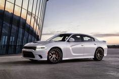 Release 2015 Dodge Charger SRT Hellcat Review Front Side View Model