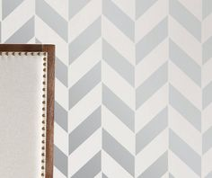 Wall Stencil Geometric Arrow Chevron Zig Zag  Pattern Wall Room Decor Made by OMG Stencils Home Improvements Color Paintings 0068
