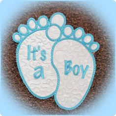 Large Baby Feet Applique Free design awesome