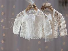 Βαπτιστικά ρούχα, πλεκτό ζακετάκι Vinte li 2343b
