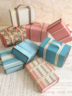 How to Create Mini Suitcases From Matchboxes