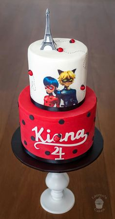 Miraculous Ladybug and Cat Noir cake